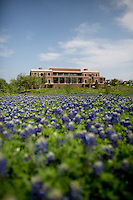 A view of the  George W. Bush Library and Museum on the Southern Methodist Campus in Dallas, Texas