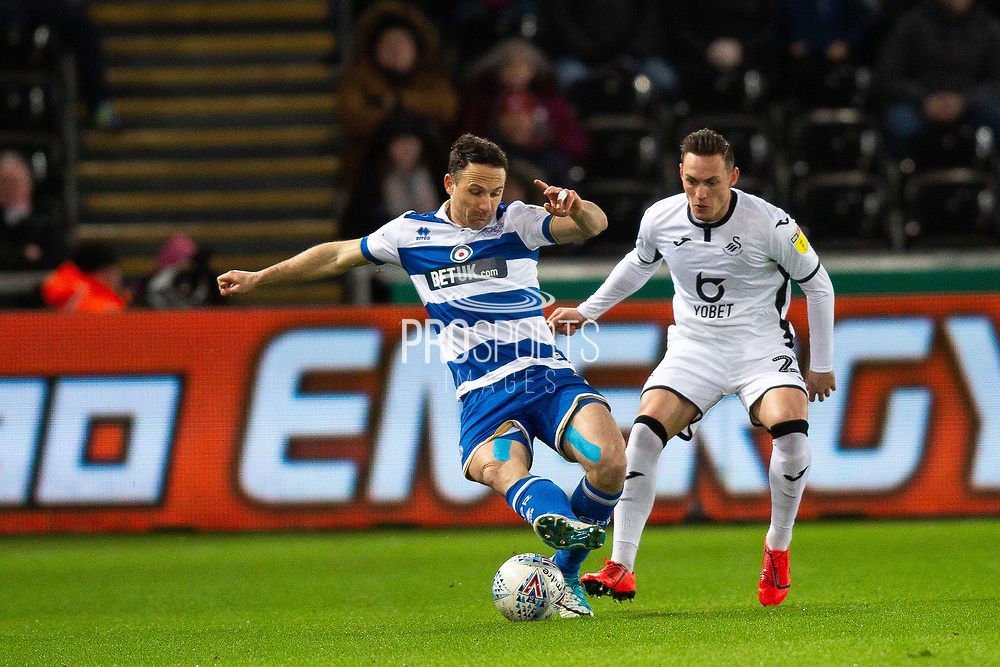 during the EFL Sky Bet Championship match between Swansea City and Queens Park Rangers at the Liberty Stadium, Swansea, Wales on 11 February 2020.