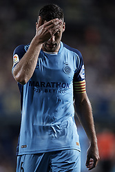 August 31, 2018 - Vila-Real, Castellon, Spain - Alex Granell Nogue of Girona FC reacts during the La Liga match between Villarreal CF and Girona FC at Estadio de la Ceramica on August 31, 2018 in Vila-real, Spain  (Credit Image: © David Aliaga/NurPhoto/ZUMA Press)