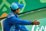 Ashgabat, Turkmenistan - 2017 September 27:<br /> Indoor Tennis competition during 2017 Ashgabat 5th Asian Indoor & Martial Arts Games at Indoor Tennis Arena (ITC) at Ashgabat Olympic Complex on September 27, 2017 in Ashgabat, Turkmenistan.<br /> <br /> Photo by © Adam Nurkiewicz / Laurel Photo Services