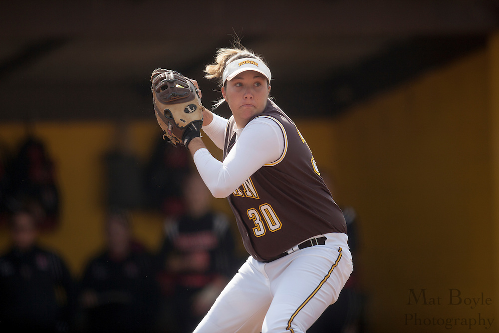 Rowan University Softball Junior Stephanie Labas (30); Rutgers-Camden softball at Rowan University on Tuesday April 10, 2012 in Glassboro, NJ. (photo / Mat Boyle)