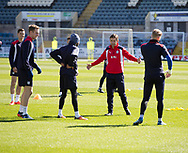 Interim Dundee FC manager Neil McCann talks to Faissal El Bakhtaoui - Dundee FC itraining at Dens Park, Dundee, Photo: David Young<br /> <br />  - &copy; David Young - www.davidyoungphoto.co.uk - email: davidyoungphoto@gmail.com