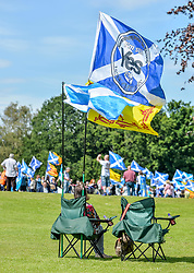 An estimated 7000 people marched through Bannockburn near Stirling in support of Scottish independence, in the latest march organised by the 'All Under One Banner' group.<br /> <br /> © Dave Johnston / EEm