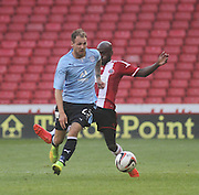 Dundee's Martin Boyle goes past Sheffield United's James Campbell-Ryce - Sheffield United v Dundee, pre season friendly at Bramall Lane<br /> <br />  - &copy; David Young - www.davidyoungphoto.co.uk - email: davidyoungphoto@gmail.com