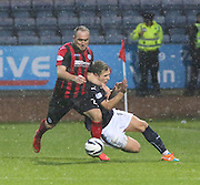 St Johnstone's Lee Croft and Dundee's Greg Stewart -  Dundee v St Johnstone, SPFL Premiership at Dens Park<br /> <br />  - &copy; David Young - www.davidyoungphoto.co.uk - email: davidyoungphoto@gmail.com