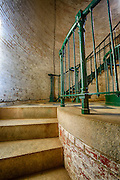 Steps leading up to the landing in the Currituck Beach Lighthouse at Corolla NC.