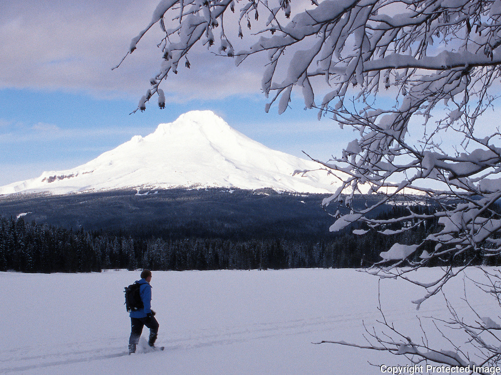 Snowshoeing at Trillum Lake, Mt. Hood, Oregon