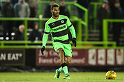 Forest Green Rovers Reuben Reid(26) during the EFL Trophy group stage match between Forest Green Rovers and U21 Arsenal at the New Lawn, Forest Green, United Kingdom on 7 November 2018.