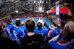 Krimovci, fans of Krim during 3rd Main Round of Women Champions League handball match between RK Krim Mercator, Ljubljana and Larvik HK, Norway on February 19, 2010 in Arena Kodeljevo, Ljubljana, Slovenia. Larvik defeated Krim 34-30. (Photo by Vid Ponikvar / Sportida)
