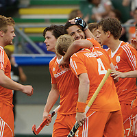 DEN HAAG - Rabobank Hockey World Cup<br /> 30 New Zealand - Netherlands<br /> Foto: Valentin Verga scored the 1-0.<br /> COPYRIGHT FRANK UIJLENBROEK FFU PRESS AGENCY