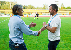 Rodolfo Vanoli, head coach of Luka Koper and Dejan Djuranovic, head coach of Radomlje during football match between NK Kalcer Radomlje and FC Luka Koper in Round 1 of Prva liga Telekom Slovenije 2014/15, on July 20, 2014 in Sportni park, Domzale, Slovenia. Photo by Vid Ponikvar / Sportida.com