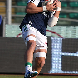 PADUA, ITALY - NOVEMBER 22: Sergio Parisse (captain) of Italy during the Castle Lager Outgoing Tour match between Italy and South African at Stadio Euganeo on November 22, 2014 in Padua, Italy. (Photo by Steve Haag/Gallo Images)