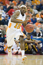 Tennessee Volunteers guard Ramar Smith (12) in action against Long Beach State.  The #5 seed Tennessee Volunteers defeated the #12 seed Long Beach State 49ers 121-86  in the first round of the Men's NCAA Tournament in Columbus, OH on March 16, 2007.