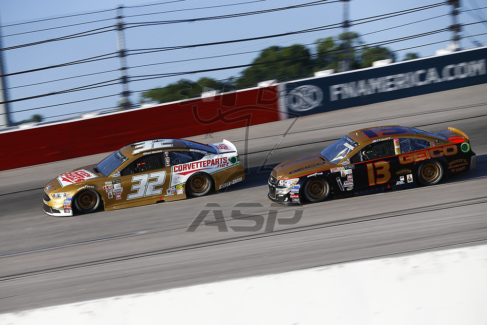September 03, 2017 - Darlington, South Carolina, USA: Matt DiBendetto (32) and Ty Dillon (13) battle for position during the Bojangles' Southern 500 at Darlington Raceway in Darlington, South Carolina.