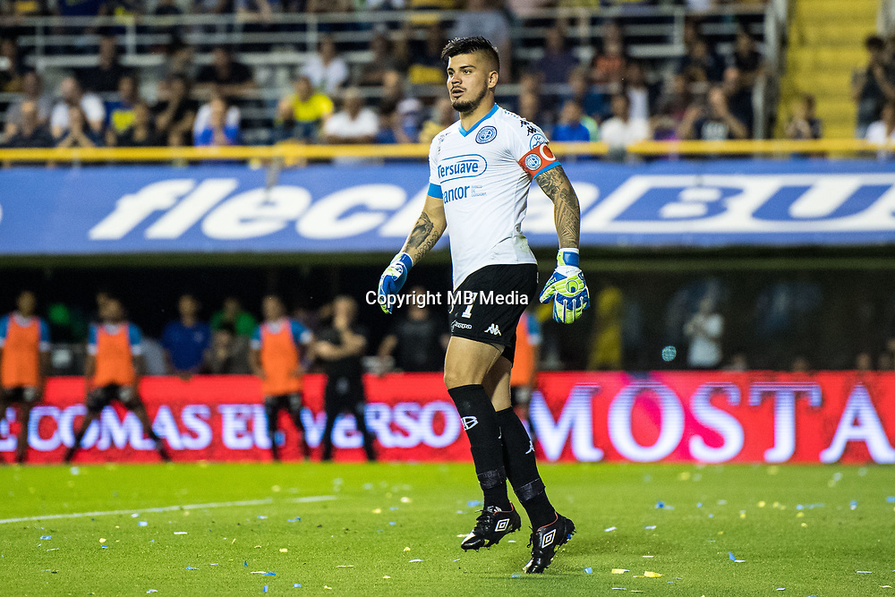 BUENOS AIRES, ARGENTINA - 2017 OCTOBER 29. Belgrano (1) Lucas Acosta during the Superliga Argentina match between Boca Juniors and Belgrano at  Estadio Alberto J. Armando<br /> (La Bombonera),  <br /> ( Photo by Sebastian Frej )