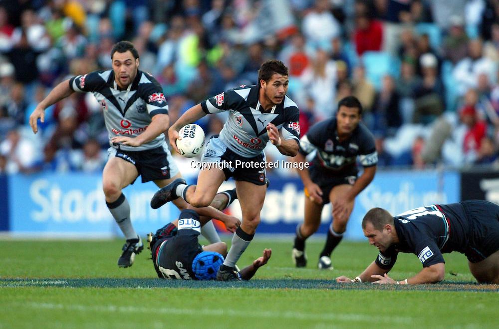 28 September 2003, Rugby Leage NRL Semi Final, New Zealand vs Penrith Panthers, Telstra Stadium, Sydney, Australia.<br />Brent Webb.<br />Pic: Andrew Cornaga/Photosport