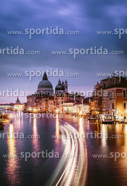 THEMENBILD - Basilica di Santa Maria della Salute in der blauen Stunde, aufgenommen am 06. Oktober 2019 in Venedig, Italien // Basilica di Santa Maria della Salute in the blue hour in Venice, Italy on 2019/10/06. EXPA Pictures © 2019, PhotoCredit: EXPA/ JFK