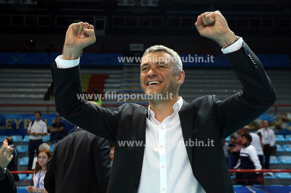 Belgium head coach Gert Vande Broek celebrates