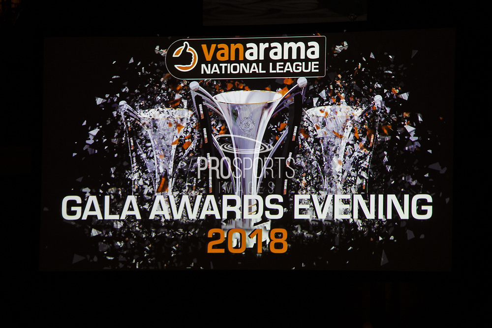 during the National League Gala Awards Evening at Celtic Manor Resort, Newport, South Wales on 9 June 2018. Picture by Shane Healey.
