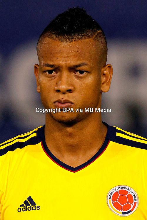 Football Fifa Brazil 2014 World Cup Matchs / South America - Group Matches /<br /> Paraguay vs Colombia 1-2  ( Defensores del Chaco Stadium-Asuncion ,Paraguay )<br /> Freddy GUARIN of Colombia , during the match between Paraguay and Colombia