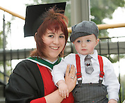 Sinead Flynn from Roscommon who received a BA Economic and Social Studies from NUI,Galway and her son  Matthew. Photo:Andrew Downes
