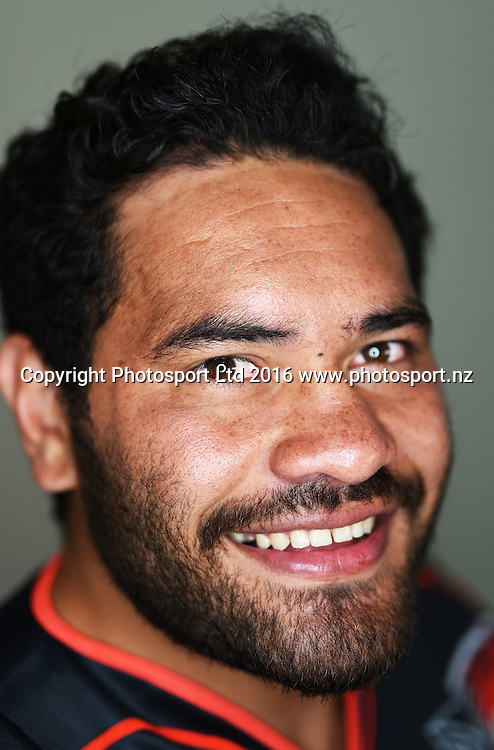 Konrad Hurrell.<br /> Warriors media day and portrait session, Wednesday 13 January 2016. Copyright Photo: Andrew Cornaga / www.photosport.nz