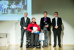 Amir Alibabic and Andrej Novotny during Slovenian Disabled Sports personality of the year 2017 event, on December 6, 2017 in Austria Trend Hotel, Ljubljana, Slovenia. Photo by Vid Ponikvar / Sportida