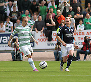Dundee's Gary Irvine and Celtic's Celtic's Leigh Griffiths - Dundee v Celtic SPFL Premiership at Dens Park<br /> <br />  - &copy; David Young - www.davidyoungphoto.co.uk - email: davidyoungphoto@gmail.com