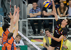 Mariusz Wlazly of Belchatow at  match for 3rd place of CEV Indesit Champions League FINAL FOUR tournament between PGE Skra Belchatow, POL and ACH Volley Bled, SLO on May 2, 2010, at Arena Atlas, Lodz, Poland. Belchatow defeated ACH 3-1. (Photo by Vid Ponikvar / Sportida)
