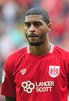 "Bristol City's Mark Little during the Sky Bet Championship match at Ashton Gate, Bristol. PRESS ASSOCIATION Photo. Picture date: Saturday August 27, 2016. See PA story SOCCER Bristol City. Photo credit should read: Simon Galloway/PA Wire. RESTRICTIONS: EDITORIAL USE ONLY No use with unauthorised audio, video, data, fixture lists, club/league logos or ""live"" services. Online in-match use limited to 75 images, no video emulation. No use in betting, games or single club/league/player publications."