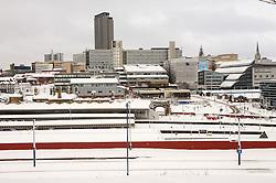 Sheffield Hallam University after a snow storm
