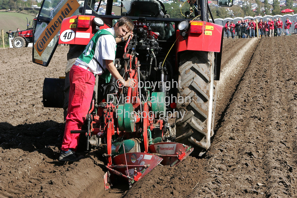 29/9/2006.Peter Lanz from Austria pictured at the World Ploughing Championships in Carlow yesterday ..Picture Dylan Vaughan.