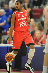 Bristol Flyer's Dwayne Lautier-Ogunleye in action against Cheshire Phoenix at SGS Wise Arena - Photo mandatory by-line: Paul Knight/JMP - Mobile: 07966 386802 - 15/11/2014 - SPORT - Football - Bristol - SGS Wise Arena - Bristol Flyers v Cheshire Phoenix - Bristol Basketball League