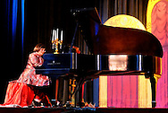 MERRICK, NY - February 21: Duelling Divas concert - starring opera sopranos Birgit Firavante and Wendy Reynolds and pianist Heather Coltman - in comic opera concert presented by Merrick Bellmore Community Concert Association on February 21, 2010 at Merrick, NY.