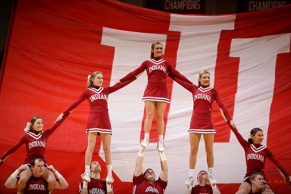 Indiana Cheerleaders as Penn State played Indiana in an NCCA college basketball game in Bloomington, Ind., Tuesday, Jan. 13, 2015. (AJ Mast)