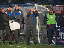 WYCOMBE, ENGLAND - Saturday, February 4, 2012: Tranmere Rovers' manager Les Parry looks dejected as his side lose 2-1 to Wycombe Wanderers during the Football League One match at Adams Park. (Pic by David Rawcliffe/Propaganda)