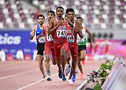 Abubaker Haydar Abdalla (QAT) wins the 800m in 1:44:33 during the Asian Athletics Championships in Doha, Qatar, Saturday, April,21, 2019. (Jiro Mochizuki/Image of Sport)