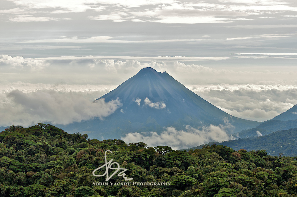 The Arenal Volcano Towering Over the Monteverde Cloud Forest