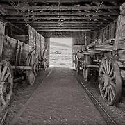 Wagons in Bodie garage