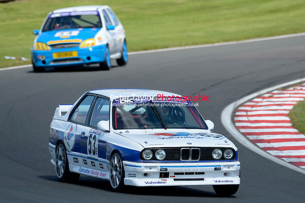 #53 Nicholas Bartlett BMW M3 2302 during the CNC Heads Sports & Saloon Car Championship at Oulton Park, Little Budworth, Cheshire, United Kingdom. August 06 2016. World Copyright Peter Taylor/PSP.