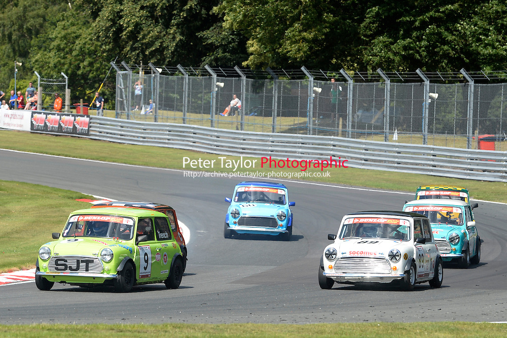 #9 Steve Trench Mini 7 during Mini Se7en - Race 1  as part of the Mini Festival  at Oulton Park, Little Budworth, Cheshire, United Kingdom. August 08 2015. World Copyright Peter Taylor. Copy of publication required for printed pictures.  Every used picture is fee-liable. http://archive.petertaylor-photographic.co.uk
