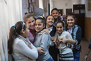 Break at the school in Marginenii de Jos, where pupils - Roma and Non Roma - are educated together. The village has about 3400 inhabitants. The majority population are Roma with 2700 citizens and 700 non Roma.