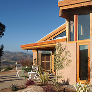 The Matheron House was designed by Norm Applebaum and completed in 2011 on the site of the original Norm Applebaum house that was destroyed by wildfire in 2007