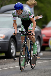 Sam Silvey (MOR) during stage 1 of the Tour of Virginia.  The Tour of Virginia began with a 4.7 mile individual time trial near Natural Bridge, VA on April 24, 2007. Formerly known as the Tour of Shenandoah, the ToV has gained National Race Calendar (NRC) status for the first time in its five year history.