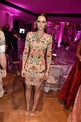 Charlotte de Carle at the Floral Ball in aid of Sheba Medical Center hosted by Laura Pradelska and Zoe Hardman and held at One Marylebone, 1 Marylebone Road, London England. 14 March 2017.