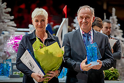 L'Année Hippique Awards<br /> Van der Net Inge, Torgerson Thomas, Event Director Gothenburg Horse Show<br /> CHI Genève 2019<br /> © Hippo Foto - Dirk Caremans<br />  14/12/2019