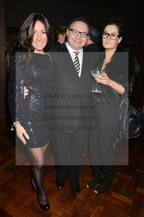 Left to right, JONATHAN SHALIT, KATRINA SHALIT and JULIA JEORY at the Universal Bacardi Brits' After Party At Soho House Pop-Up, 8 Victoria Embankment, London on 19th February 2014.