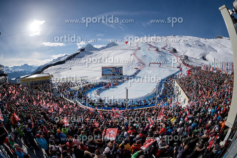 12.02.2017, St. Moritz, SUI, FIS Weltmeisterschaften Ski Alpin, St. Moritz 2017, Abfahrt, Herren, im Bild Übersicht // general View during the men's Downhill of the FIS Ski World Championships 2017. St. Moritz, Switzerland on 2017/02/12. EXPA Pictures © 2017, PhotoCredit: EXPA/ Johann Groder