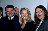 """The Europe of the Mille Patrie""  conference of the movement ""Us with Salvini"" with Marion Le Pen of the Front National. Rome Italy. March 15th  2016<br /> Pictured: Gian Marco Centinaio, leader in the Senate of the Northern League with Marion Le Pen of the Front National and Barbara Saltamartini, deputy of the Northern League."
