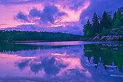 Reflection in Middle Lake at dusk<br />